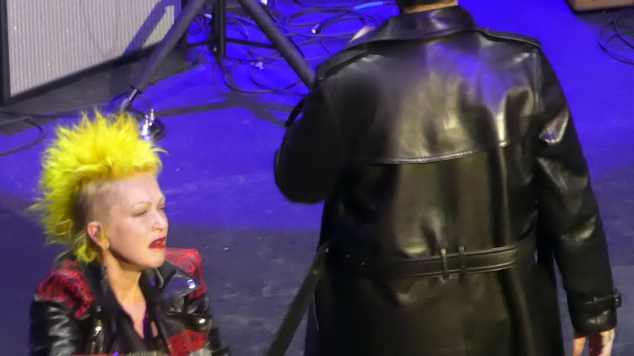 """Video: Marilyn Manson and Cyndi Lauper Sing """"Girls Just Want to Have Fun"""" and """"The Beautiful People"""" 