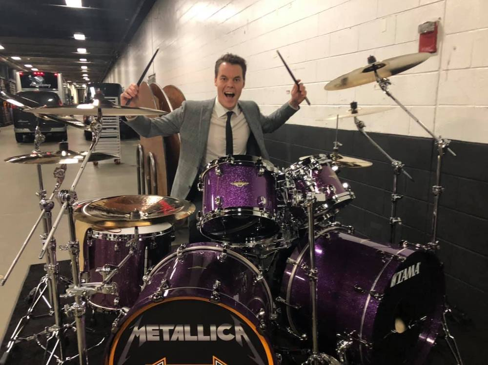 Boston Bruins Gift Goalie a Replica of Lars Ulrich's Drum Kit | MetalSucks