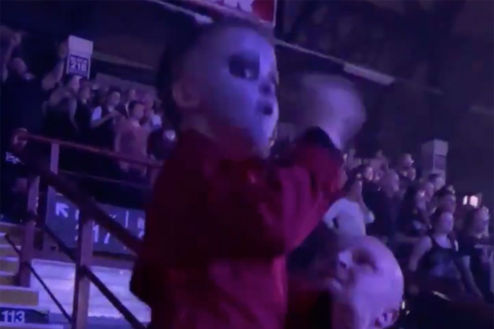 Watch: 5-Year-Old Kid Perfectly Air Drums Along at Slipknot Concert   MetalSucks