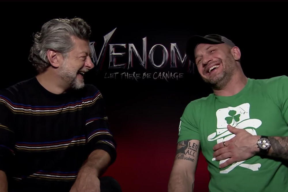 """Tom Hardy and Andy Serkis Play """"Symbiote or Death Metal Band?"""" 